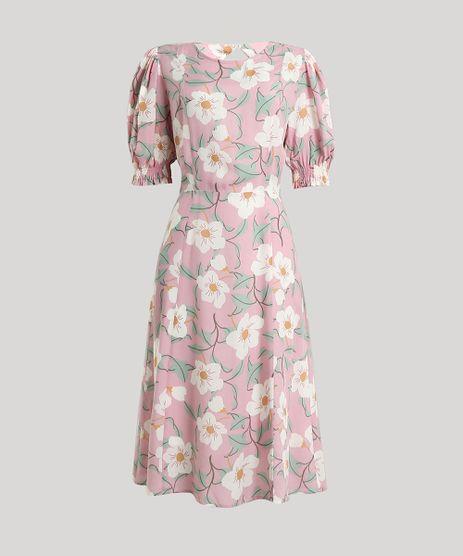 Vestido-Feminino-Midi-Mindset-Estampado-Floral-com-Vazado-nas-Costas-Manga-Curta-Rosa-Claro-9792475-Rosa_Claro_5