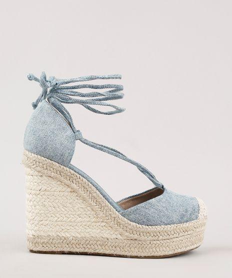 Espadrille-Jeans-Feminina-Oneself-Plataforma-com-Amarracao-Azul-Medio-9702580-Azul_Medio_1