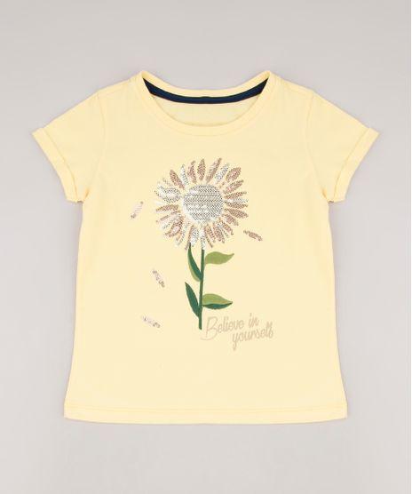 Blusa-Infantil-Girassol-com-Paetes-e-Bordado-Manga-Curta-Amarela-9678621-Amarelo_1