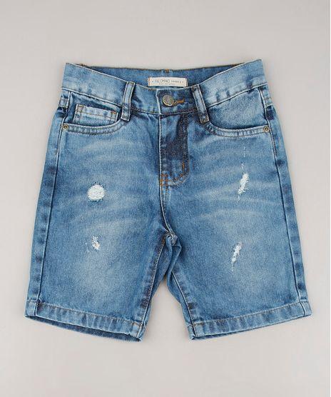 Bermuda-Jeans-Infantil-com-Rasgos-Azul-Claro-9660615-Azul_Claro_1