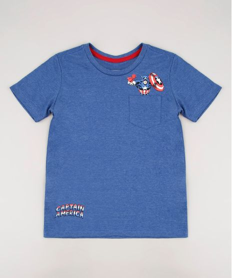 Camiseta-Infantil-Capitao-America-com-Bolso-Manga-Curta-Azul-9727867-Azul_1