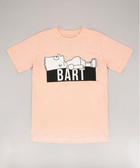 Camiseta-Infantil-Bart-Simpson-Manga-Curta-Laranja-Claro-9672446-Laranja_Claro_1