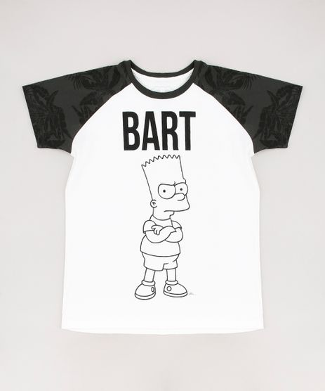 Camiseta-Infantil-Bart-Simpson-Raglan-Manga-Curta-Off-White-9674463-Off_White_1