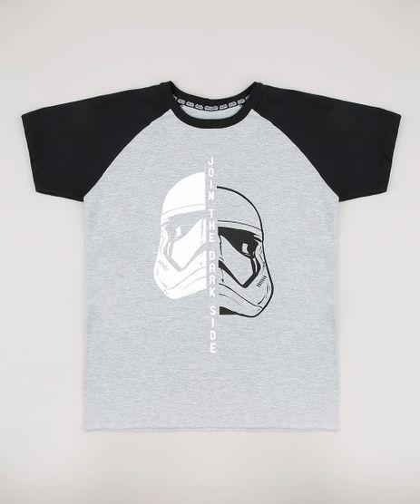 Camiseta-Infantil-Darth-Vader-Stormtrooper-Star-Wars-Raglan-Manga-Curta-Cinza-Mescla-9699480-Cinza_Mescla_1
