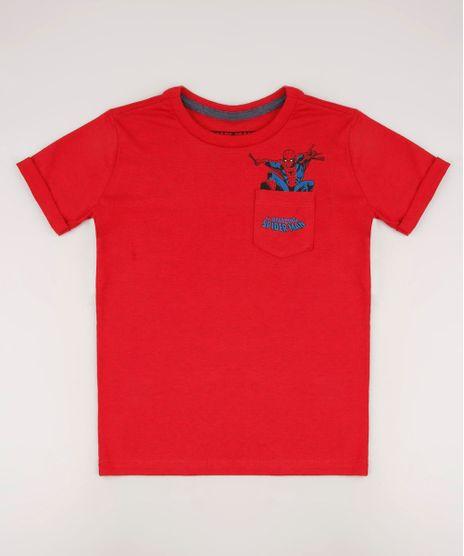 Camiseta-Infantil-Homem-Aranha-com-Bolso-Estampado-Manga-Curta-Vermelha-9727917-Vermelho_1
