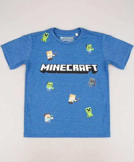 Camiseta-Infantil-Minecraft-Manga-Curta-Azul-9674461-Azul_1