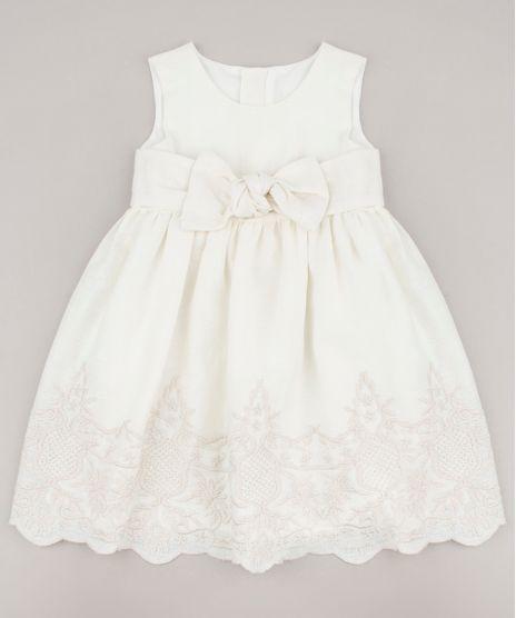 Vestido-Infantil-com-Linho-e-Laco-Sem-Manga-Off-White-9682742-Off_White_1