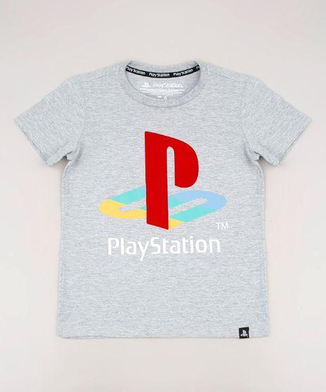 Camiseta-Infantil-PlayStation-Manga-Curta-Cinza-Mescla-9630901-Cinza_Mescla_1