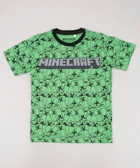 Camiseta-Infantil-Minecraft-Estampada-Manga-Curta-Verde-9674462-Verde_1