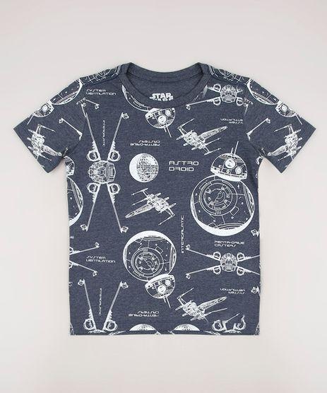 Camiseta-Infantil-Star-Wars-Estampada-Manga-Curta-Cinza-Mescla-Escuro-9727918-Cinza_Mescla_Escuro_1