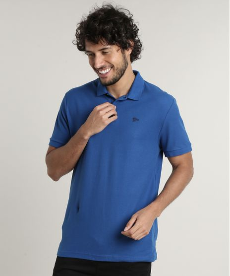 Polo-Masculina-Basica-Comfort-Fit-em-Piquet-Manga-Curta-Azul-Royal-9171747-Azul_Royal_1