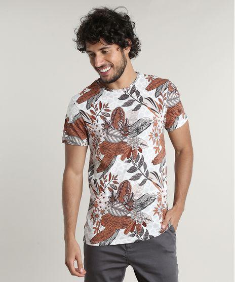 Camiseta-Masculina-Slim-Fit-Estampada-Folhagens-Manga-Curta-Gola-Careca-Off-White-9627861-Off_White_1