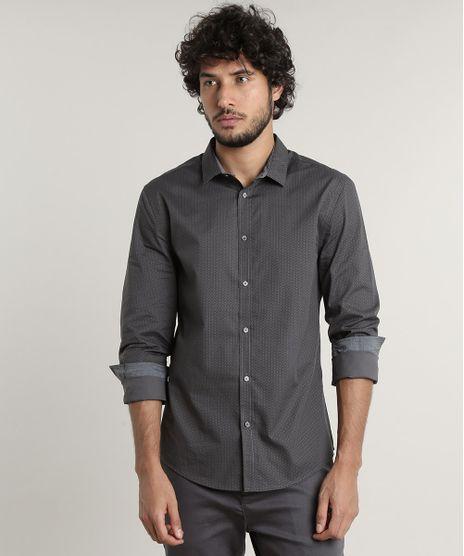 Camisa-Masculina-Slim-Fit-Estampada-Geometrica-Manga-Longa--Chumbo-9516949-Chumbo_1