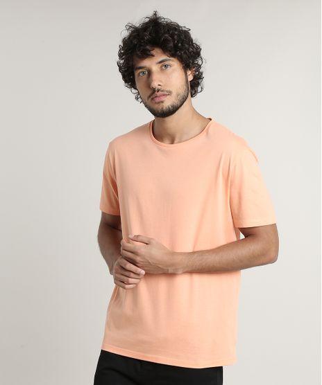 Camiseta-Masculina-Basica-Comfort-Fit-Manga-Curta-Gola-Careca-Laranja-Claro-9649642-Laranja_Claro_1