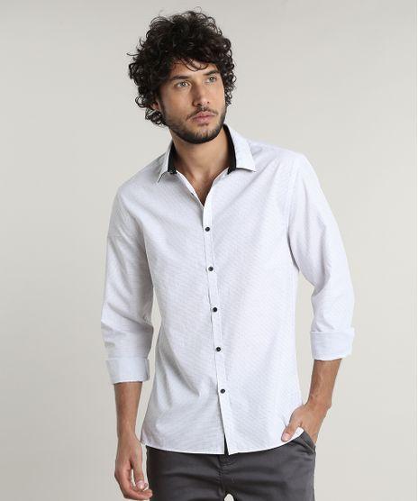 Camisa-Masculina-Slim-Fit-Mini-Print-Manga-Longa--Branca-9516954-Branco_1