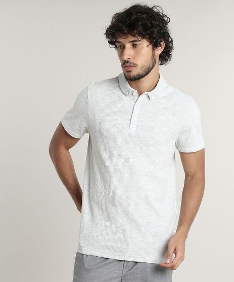 Polo-Masculina-Slim-Fit-Texturizada-Manga-Curta-Cinza-Meslca-Claro-9634642-Cinza_Meslca_Claro_1