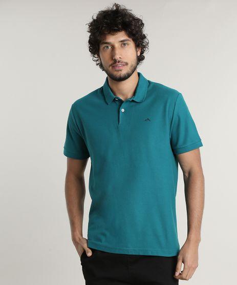 Polo-Masculina-Basica-Comfort-Fit-em-Piquet-Manga-Curta-Verde-9533385-Verde_1