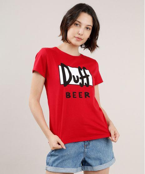 Blusa-Feminina-Duff-Beer-Os-Simpsons-Manga-Curta-Decote-Redondo-Vermelha-9518315-Vermelho_1