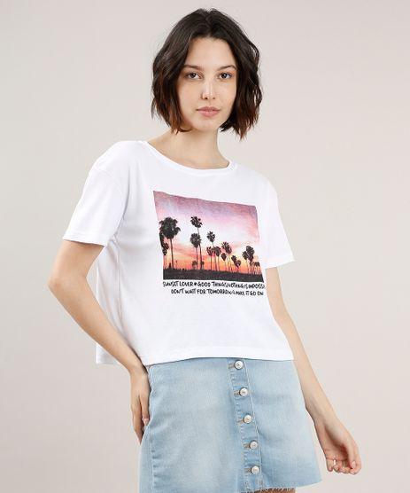 Blusa-Feminina-Ampla--Sunset-Lover--Manga-Curta-Decote-Redondo-Branca-9700794-Branco_1