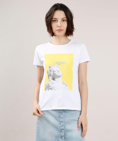 Blusa-Feminina--Pensando-nos-Boletos--Manga-Curta-Decote-Redondo-Branca-9712750-Branco_1