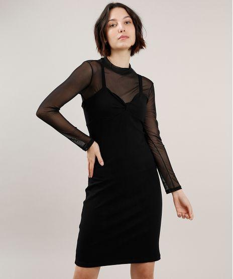Vestido-Feminino-Curto-Canelado-com-No-Alca-Fina-Preto-9700806-Preto_1