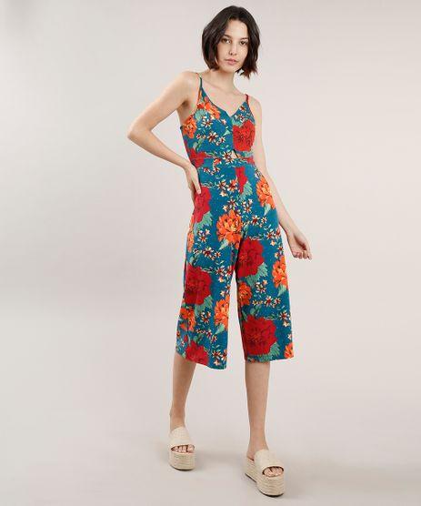 Macacao-Feminino-Pantacourt-Estampado-Floral-com-Vazado-Alca-Fina-Azul-Petroleo-9709007-Azul_Petroleo_1