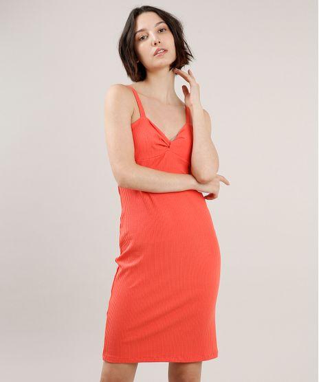 Vestido-Feminino-Curto-Canelado-com-No-Alca-Fina-Coral-9700806-Coral_1
