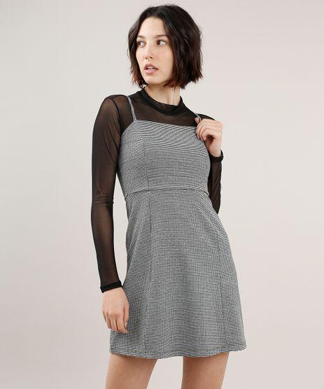 Vestido-Feminino-Curto-Estampado-Xadrez-Alca-Fina-Preto-9706295-Preto_1