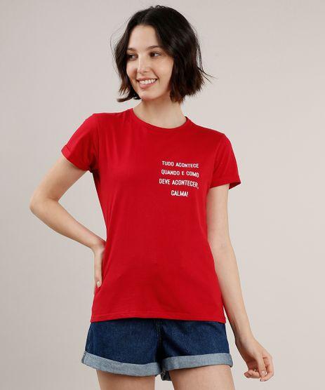 Blusa-Feminina--Calma---Manga-Curta-Decote-Redondo-Vermelha-9712520-Vermelho_1