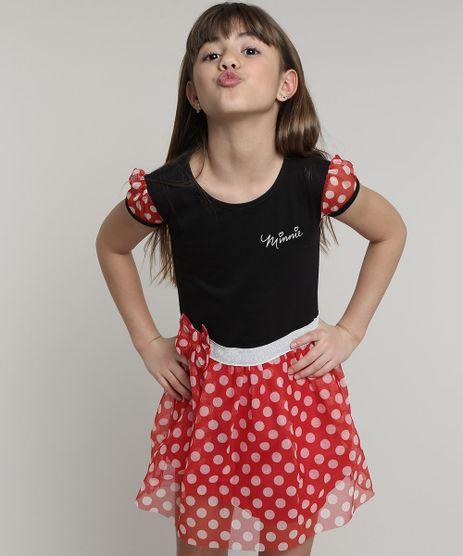Vestido-Infantil-Minnie-com-Tule-Estampado-de-Poa-Manga-Curta-Preto-9680225-Preto_1