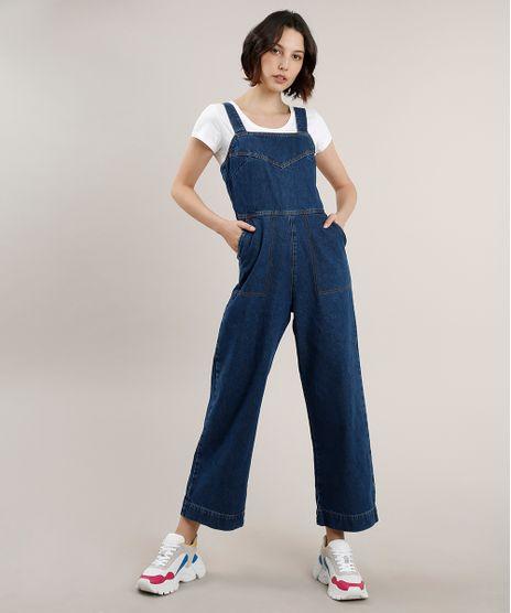 Macacao-Jeans-Feminino-com-Bolsos-Alca-Larga-Azul-Escuro-9756592-Azul_Escuro_1