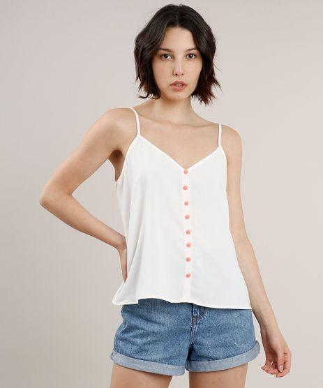 Regata-Feminina-Ampla-com-Botoes-Neon-Decote-V-Off-White-9630036-Off_White_1