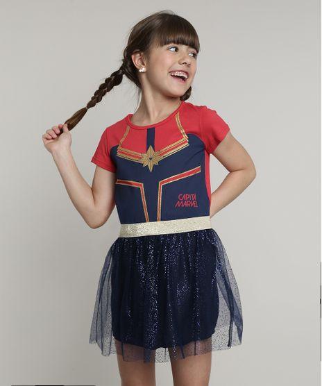 Vestido-Infantil-Capita-Marvel-com-Tule-e-Brilho-Manga-Curta-Azul-Marinho-9680227-Azul_Marinho_1