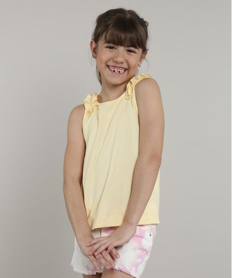 Regata-Infantil-com-Babados-Alcas-Medias-Amarelo-Claro-9713196-Amarelo_Claro_1