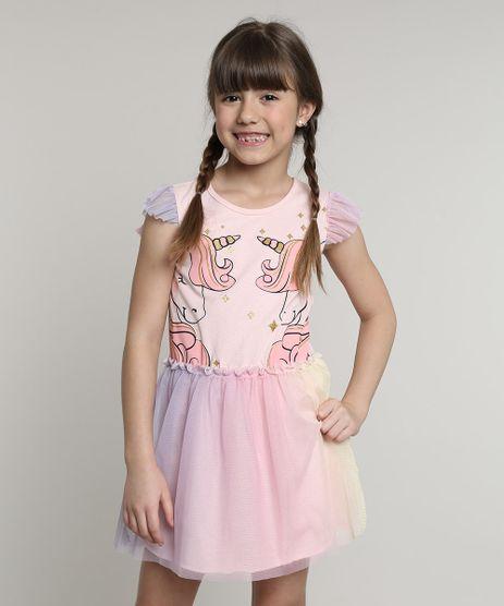 Vestido-Infantil-Unicornio-com-Tule-Sem-Manga-Rosa-Claro-9680224-Rosa_Claro_1