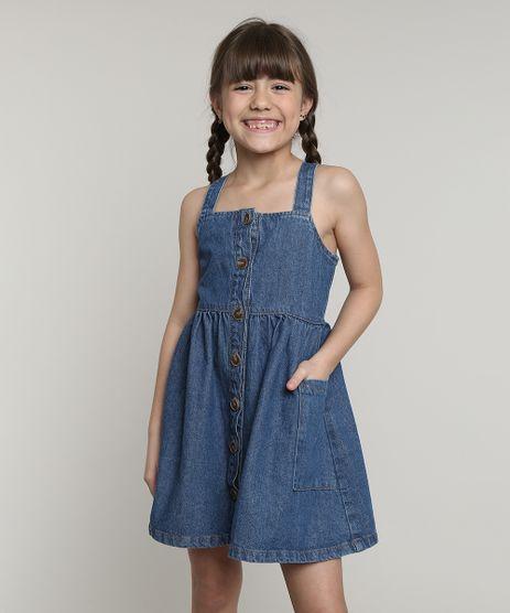 Vestido-Jeans-Infantil-com-Bolso-e-Botoes-Alca-Larga-Azul-Escuro-9654493-Azul_Escuro_1