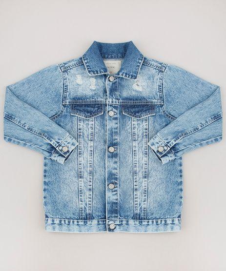 Jaqueta-Jeans-Infantil-Destroyed-com-Bolsos-Azul-Medio-8556540-Azul_Medio_1