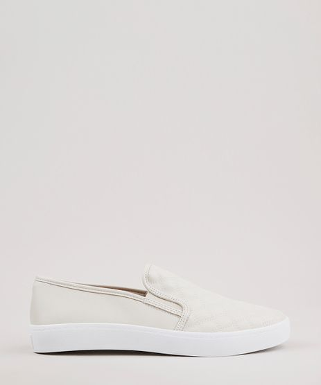 Tenis-Slip-On-Feminino-Via-Uno-All-Day-com-Matelasse-Bege-Claro-9662065-Bege_Claro_1