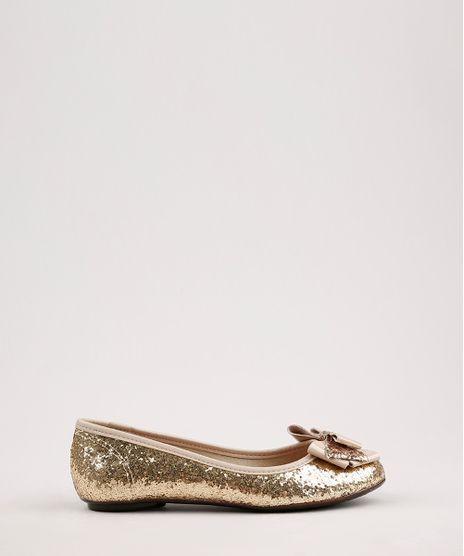 Sapatilha-Infantil-Molekinha-Bico-Redondo-em-Glitter-com-Laco-Dourada-9668055-Dourado_1