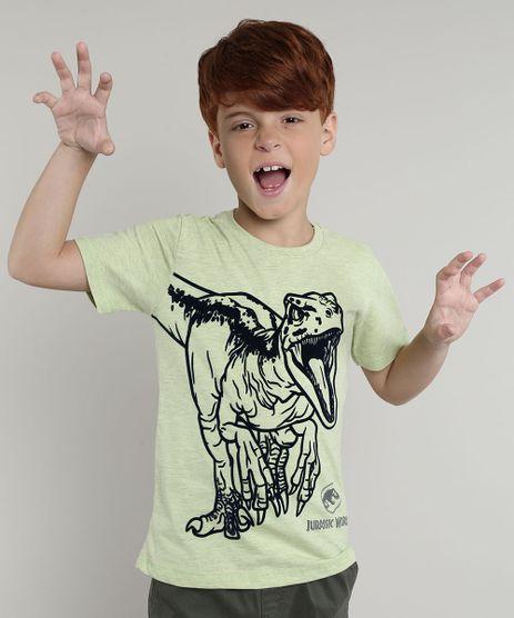 Camiseta-Infantil-Jurassic-World-Manga-Curta-Verde-9668628-Verde_1