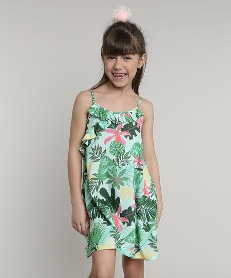 Vestido-Infantil-Estampado-Floral-com-Babado-Alcas-Finas-Verde-Claro-9673024-Verde_Claro_1