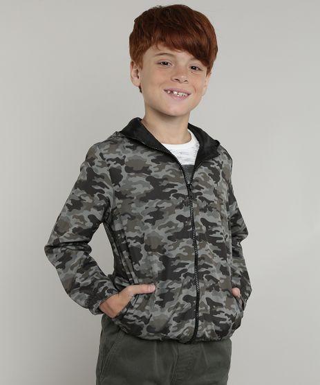 Jaqueta-Corta-Vento-Infantil-Estampada-Camuflada-com-Capuz-Verde-Militar-9721054-Verde_Militar_1