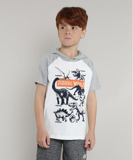Camiseta-Infantil-Jurassic-World-Raglan-com-Capuz-Manga-Curta-Off-White-9693639-Off_White_1