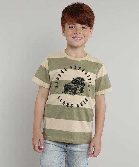 Camiseta-Infantil-Listrada-Manga-Curta-Verde-9674458-Verde_1