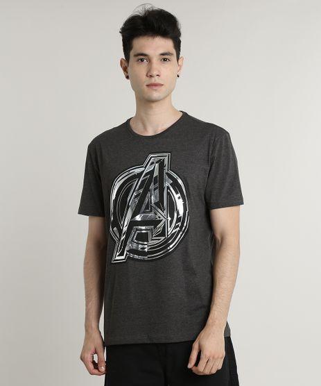 Camiseta-Masculina-Os-Vingadores-Metalizada-Manga-Curta-Gola-Careca-Cinza-Mescla-Escuro-9385097-Cinza_Mescla_Escuro_1