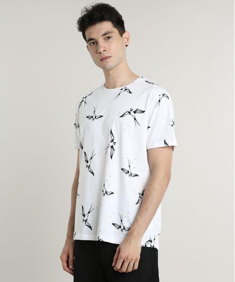 Camiseta-Masculina-Estampada-de-Passaros-Manga-Curta-Gola-Careca-Off-White-9597335-Off_White_1