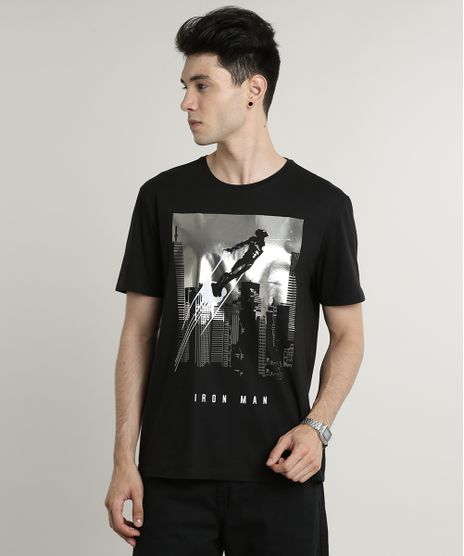 Camiseta-Masculina-Homem-de-Ferro-Metalizada-Manga-Curta-Gola-Careca-Preta-9623016-Preto_1