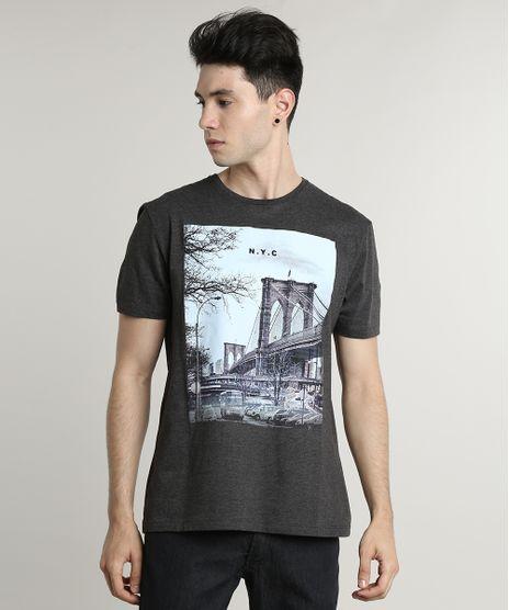 Camiseta-Masculina--NYC--Manga-Curta-Gola-Careca-Cinza-Mescla-Escuro-9597453-Cinza_Mescla_Escuro_1