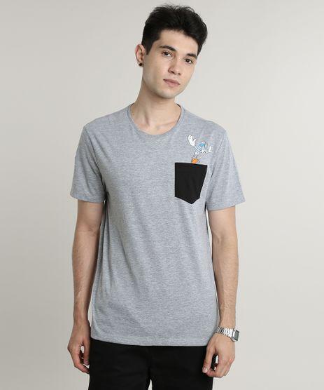 Camiseta-Masculina-Pernalonga-com-Bolso-Manga-Curta-Gola-Careca-Cinza-Mescla-9623020-Cinza_Mescla_1