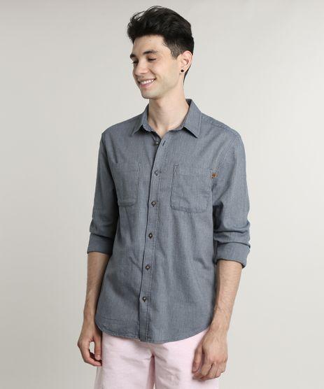 Camisa-Masculina-Tradicional-com-Bolsos-Manga-Longa-Azul-9542576-Azul_1